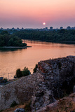 The Confluence of the Sava and Danube Rivers in Belgrade Photographic Print by Lola Akinmade Akerstrom