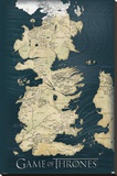 Game of Thrones-Map Stretched Canvas Print