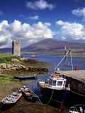 Granuaile's Tower, Kildavnet Castle, Achill Island, County Mayo, Ireland Photographic Print by Chris Hill