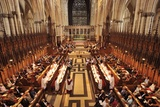 High Church Services in the Giant Gothic Cathedral of York Minster Photographic Print by Jim Richardson