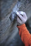 A Climber Places a Tick Mark on a Boulder Problem in Grampians National Park Photographic Print by Keith Ladzinski