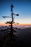 Sunset from on Top of Tahquitz Rock Overlooking Southern California Photographic Print by Ben Horton