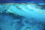 Aerial View of the Coral Barrier Reef Just Off Grand Turk Island Photographic Print by Mauricio Handler