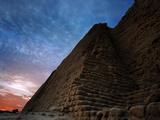 The Huaca Del Sol, an Adobe Brick Temple Built by the Moche Civilization, Peru Photographic Print by Diane Cook Len Jenshel