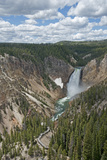 The Yellowstone River Plunges over Lower Yellowstone Falls Photographic Print by Gordon Wiltsie