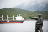 Statue of a Sailor Pointing Out to Sea in Prince Rupert, British Columbia, Canada Photographic Print by Jonathan Kingston