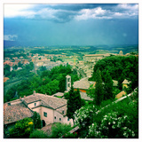 A Summer Thunderstorm Approaching the Old Fortress Town of Todi, Umbria, Italy Photographic Print by Skip Brown