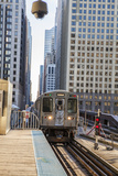 Red Line Cta Pulling Out of the Merchandise Market Station Photographic Print by Richard Nowitz