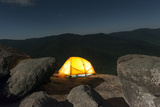 A Solitary Tent Rests on Boulders in Shenandoah National Park Photographic Print by Jeff Mauritzen