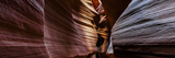A Panoramic View of a Slot Canyon Eroded by Flash Floods Carrying Abrasive Sand Particles Fotografisk tryk af Babak Tafreshi