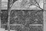 A Snowstorm Slams the Cove Warehouse in the Historic District of Old Wethersfield Photographic Print by Brian Drouin