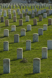 A Military Cemetery Beside Montana's Little Bighorn Battlefield Photographic Print by Gordon Wiltsie
