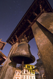 An Ancient Bell at Night in Durbar Square, a Complex of Historic Temples and Monuments Photographic Print by Babak Tafreshi
