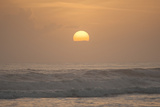 Sunrise over the Caribbean Sea from Tortuguero National Park, Costa Rica Photographic Print by Jeff Mauritzen