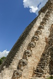 Masks on the Step Pyramid El Adivino, or the Pyramid of the Magician, at Uxmal Photographic Print by Macduff Everton