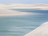 Brazil's Lencois Maranhenses Sand Dunes and Lagoons on a Sunny Afternoon Photographic Print by Alex Saberi
