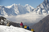 A Climbing Team Make their Way to Ama Dablam Base Camp in the Everest Region of Nepal Photographic Print by Alex Treadway