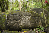 Maleku Jaguar Hieroglyphics Found at a Burial Site in the Sarapiqui Region of Costa Rica Photographic Print by Jeff Mauritzen