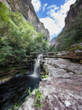 A Waterfall in a Gorge in Chapada Diamantina National Park Photographic Print by Alex Saberi