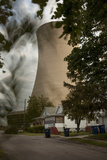 Steam and Smoke Rise from the Cooling Tower of a Coal-Fired Power Plant Photographic Print by Robb Kendrick