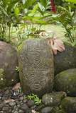 Maleku Hieroglyphics Found at a Burial Site in the Sarapiquis Region of Costa Rica Photographic Print by Jeff Mauritzen