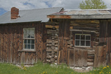 Old Mining Buildings Remain Intact in a Montana Ghost Town Photographic Print by Gordon Wiltsie
