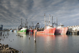 Commercial Fishing Boats Docked at Historic Gardner's Basin in Atlantic City, New Jersey Photographic Print by Jeff Mauritzen