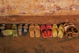 Childrens' Sandals at a Nursery School in Dung Ha Town, Vietnam Photographic Print by Karen Kasmauski