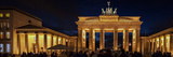 A Night View of the Brandenburg Gate and Crowds on New Year's Eve Photographic Print by Babak Tafreshi