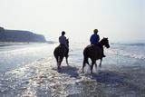 Horse Riding at Downhill Beach, Derry, Northern Ireland Photographie par Chris Hill