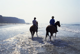 Horse Riding at Downhill Beach, Derry, Northern Ireland Photographic Print by Chris Hill