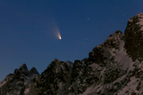 Comet Panstarrs  C/2011 L4  Streaking over Ocean-Side Mountains at Twilight
