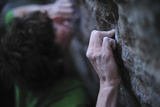 Close Up of the Hands of a Man Rock Climbing in Grampians National Park Photographic Print by Keith Ladzinski