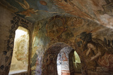 Spectacular Frescos Cover an Underground Chapel at the Convent of Santa Clara, Cusco Photographic Print by Beth Wald