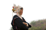 An Akha Woman Wearing Traditional Dress Photographic Print by Alex Treadway