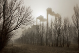 A Coal-Fired Power Plant Spews Fly Ash and Coal Dust over the Countryside Photographic Print by Robb Kendrick