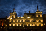 The Plaza Mayor at Night in Leon, Spain Photographic Print by Tino Soriano