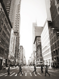 View of Fifth Avenue Looking South with Pedestrians Crossing Photographic Print by Keith Barraclough