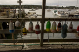 Buoys Hang on Dock in Southwest Harbor Photographic Print by Richard Olsenius