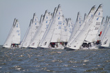 Sailboats on the Starting Line of a Regatta on the Chesapeake Bay Photographic Print by Skip Brown