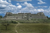 The Danzante Building, Facing the Main Plaza, at Monte Alban Photographic Print by Macduff Everton