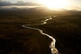 A River Weaves Through Tsavo National Park Photographic Print by Michael Nichols