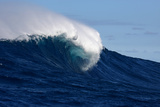 A Side View of a Monster Wave Breaking at Jaws Photographic Print by Patrick McFeeley