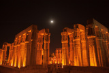The Moon Above Luxor Temple, at Night Photographic Print by Karen Kasmauski