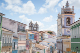 The Pelourinho or Historic Center of Salvador in the Mid Day Sun Photographic Print by Alex Saberi