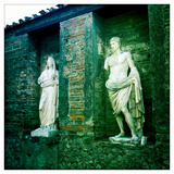 Roman Statues in the Ruins of Pompeii, Italy Photographic Print by Skip Brown