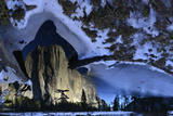 El Capitan Reflected in the Icy Merced River Photographic Print by Raul Touzon