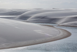 Brazil's Lencois Maranhenses Sand Dunes and Lagoons Photographic Print by Alex Saberi