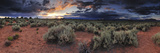 A Panoramic Desert Landscape at Sunset Photographic Print by Keith Ladzinski