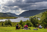Picnic by Lough Veagh, in Glenveagh, Donegal Photographic Print by Chris Hill